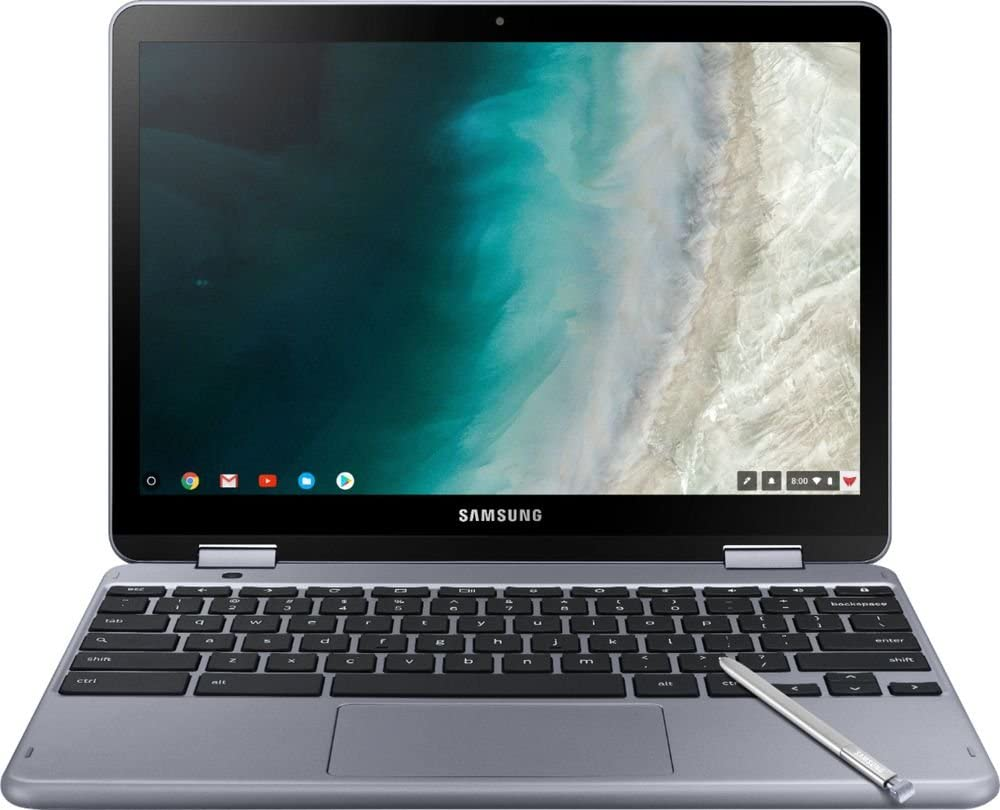"Samsung - Plus 2-in-1 12.2"" Touch-Screen Chromebook - Intel Celeron - 4GB Memory - 32GB eMMC Flash Memory - Stealth Silver"
