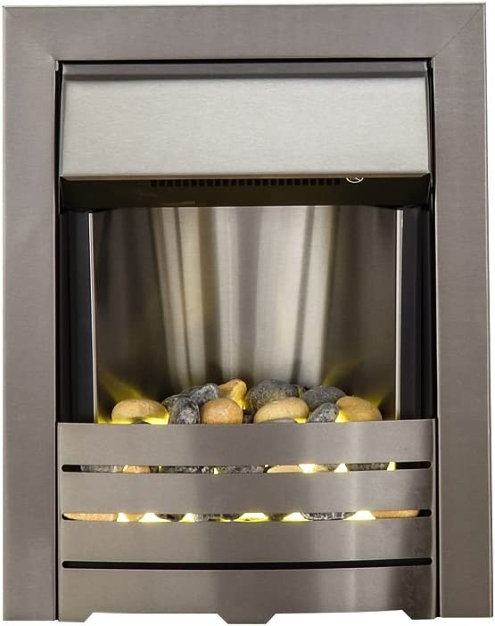 The Adam Helios Brushed Steel Electric Fire - Best Chrome Design