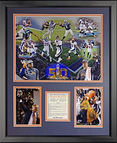 - Legends Never Die NFL Denver Broncos 2015 Super Bowl 50 Champions Team Framed Photo Collage, 16