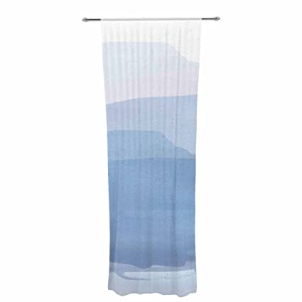Kess InHouse Sheer Curtains Jennifer Rizzo Bright and Pretty Pink 30 x 84