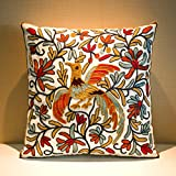 """MeMoreCool Bohemia Exotic Style Pillow Sham Exquisite Stereoscopic Embroidered Cotton Throw Pillow Cover Indian Decor Sofa Cushion Cover Pillow Case 18""""x18"""""""