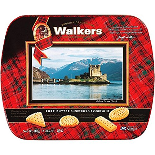 Walkers 28.2oz Pure Butter Shortbread Assortment Tin (Butter Shortbread)