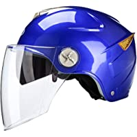 Ysayc Moto Casque Lunettes Anti-buée HD De Plein air Coloré Poids léger Multifonction autoroute à vélo Visière de Protection Casque