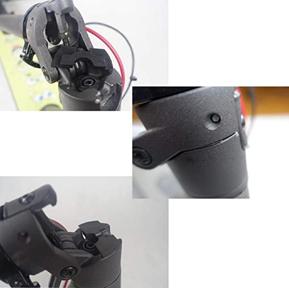 Imjoyful Folding Buckle and Rubber Vibration Dampers for Xiaomi Mi M365 Electric Scooter Replacement Part Accessory Parts
