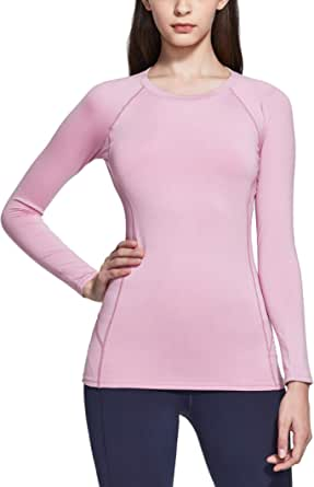 TSLA Women's (Pack of 1, 2) Thermal Long Sleeve Tops, Mock Turtle & Crew Neck Shirts, Fleece Lined Compression Base Layer