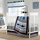 Whale of a Tale 4 Piece Baby Crib Bedding Set by Nautica Kids