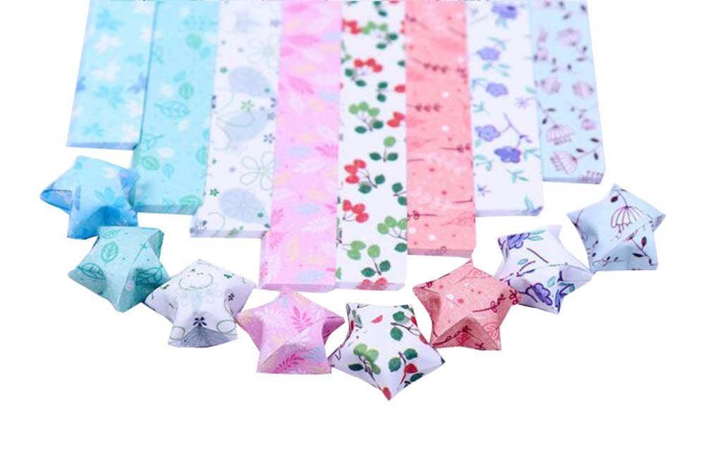 800 Sheets Origami Paper Lucky Wish Stars Folding Paper 8 Colors East Majik