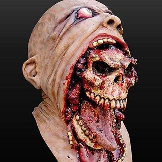 Máscara de Zombie de látex Disfraz de Terror de Halloween Máscaras ...