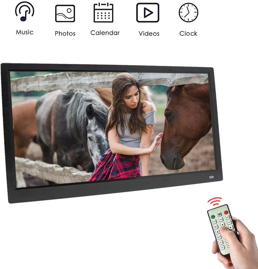 CWHALE 11.6 Inch Digital Photo Picture Frame 1920 1080 IPS Screen with Remote Control Support Calendar//Clock//MP3//Photos//1080P Video Player 178/° Viewing Angles,White