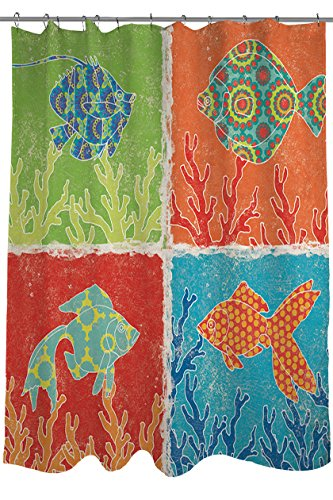 Manual Woodworkers amp Weavers Shower Curtain Aquarium Icons