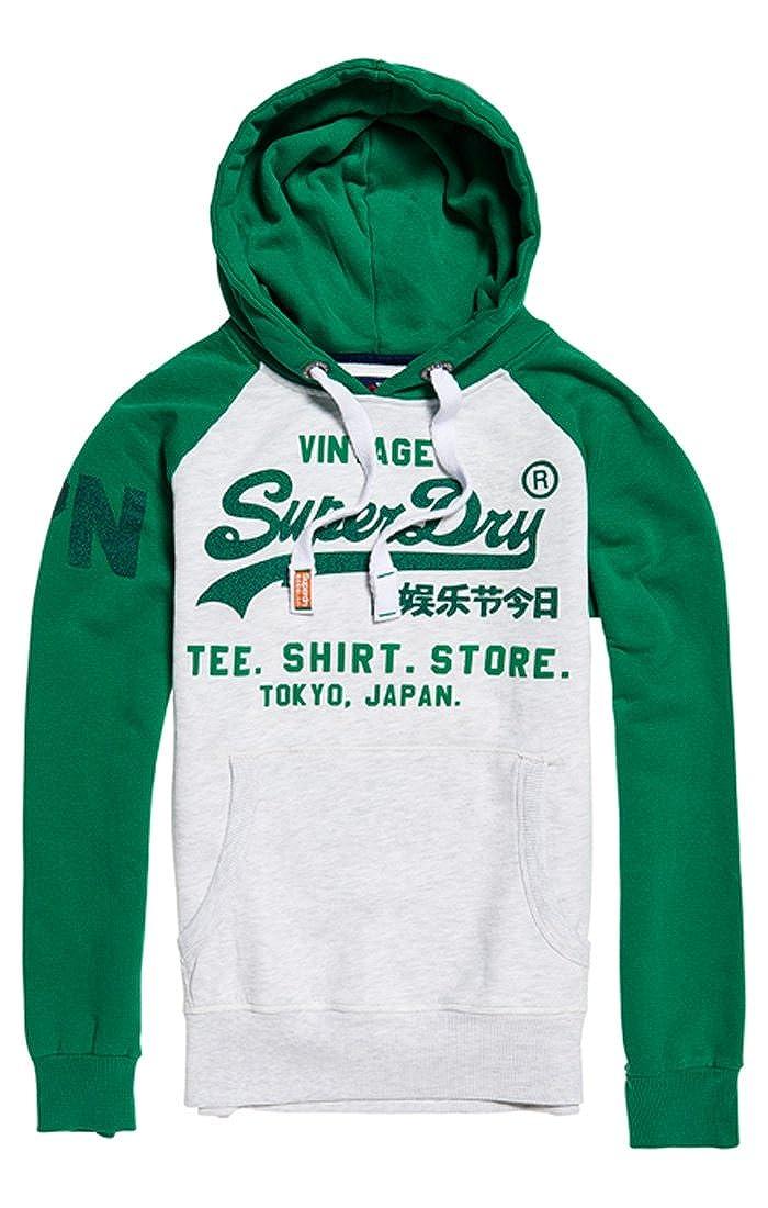 Superdry Men's Sweat Shirt Store Raglan Hood Sports Hoodie M20010NQ