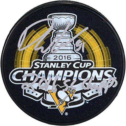 Phil Kessel Pittsburgh Penguins 2016 Stanley Cup Champions Autographed 2016 Stanley Cup Champions Logo Hockey Puck...