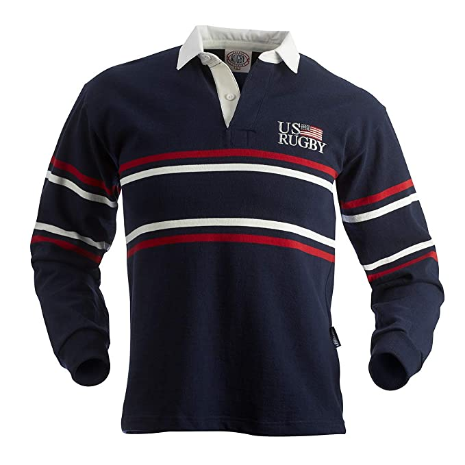Amazon.com: halbro US Split Stripe Jersey (Azul Marino ...