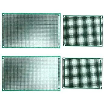 maosifang 7 x 9 cm 9 x 15 cm de lado doble universal PCB placa de circuito impreso Prototipo KIT soldadura para experimento electrónico y diseño: Amazon.es: ...