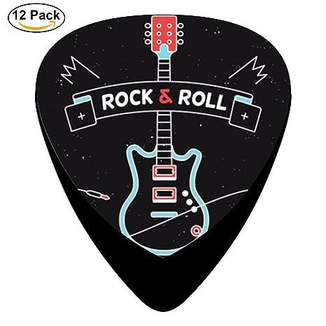 stremusic guitarra eléctrica en soporte de guitarra eléctrica 12 púas de celuloide de graves Música Instrumento