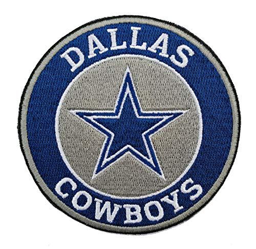 Dallas Cowboys Round Iron-on NFL Football Jersey Patch 3.5""