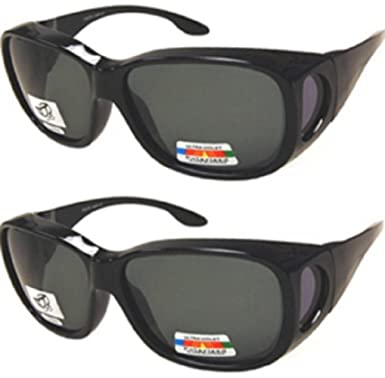 e7193f2e63456 Men and Women Unisex Polarized Fit Over Sunglasses - Wear Over Prescription  Glasses. Size Large