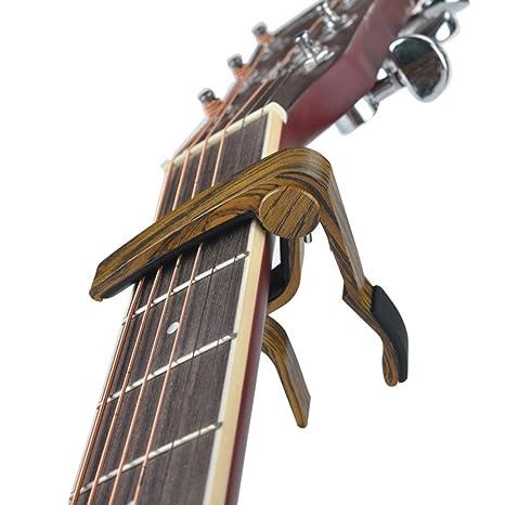 kousou madera guitarra accesorios de guitarra cejilla para guitarras eléctricas y acústicas, ukelele, Banjo