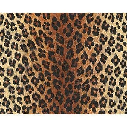 Animal Print Snow Leopard Fur Effect Wallpaper Silver Grey Metallic Fine Decor