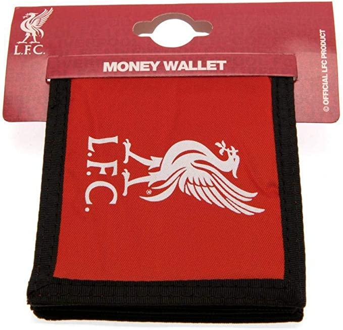 LIVERPOOL FC FOOTBALL CLUB CRESTED NYLON WALLET MONEY COIN CASH CARD HOLDER LFC