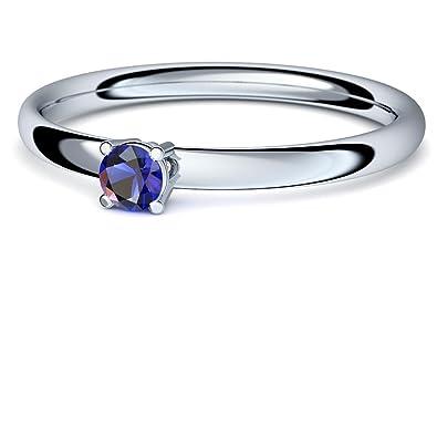 Oro blanco Anillo Zafiro 750 + con Estuche + anillo oro blanco zafiro anillo oro blanco