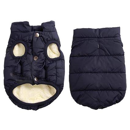 Extra Doux Chiot chien Rouge Joydaog Gilet coupe-vent Manteau pour chien 2/couches avec doublure polaire super chaud pour lhiver par temps froid