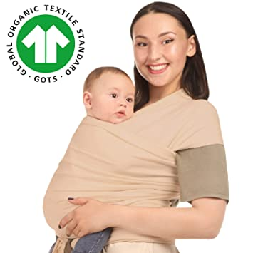 Cherub Baby Sling Wrap Infant Wrap Carrier from Newborn to 44lbs Classic Gray