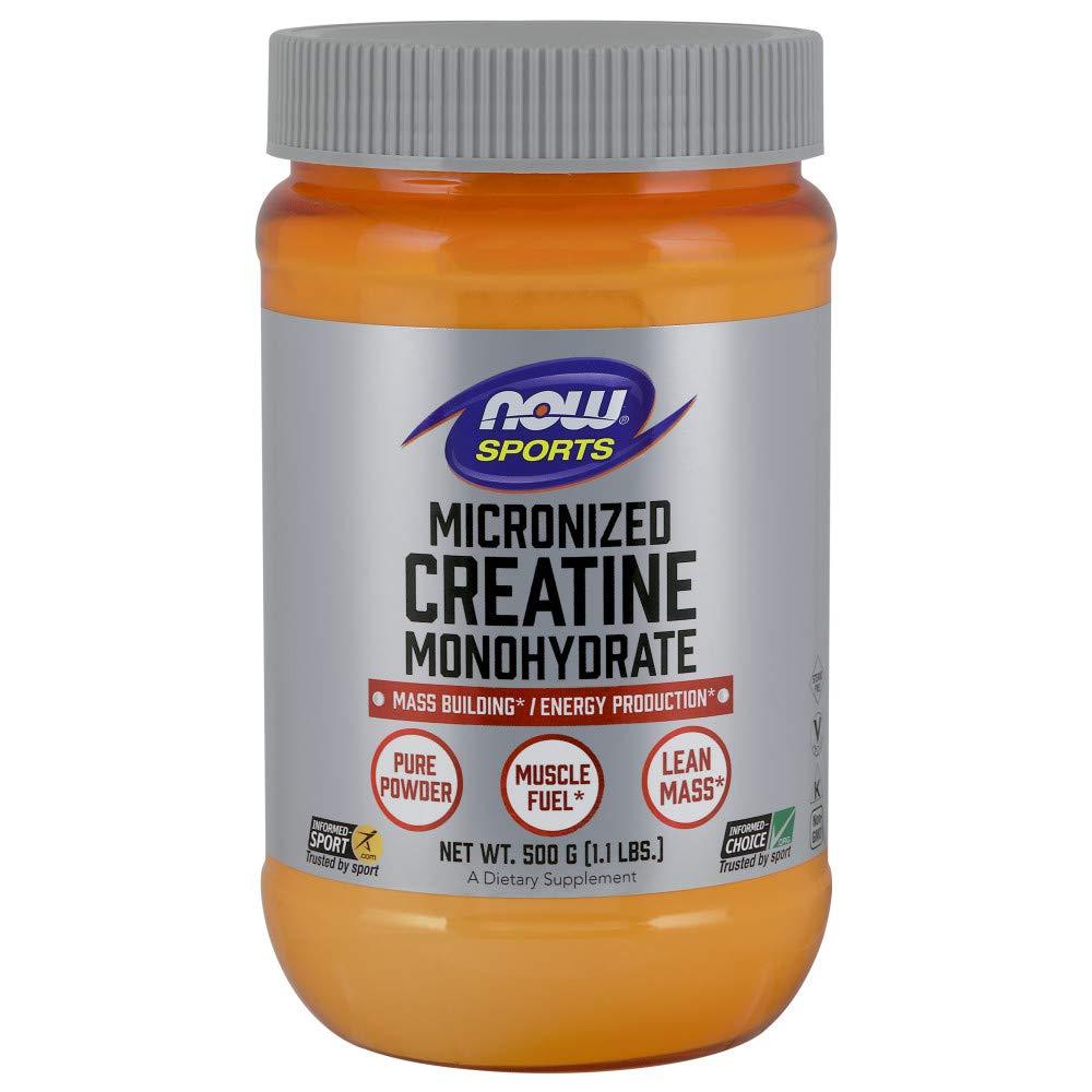 NOW Sports Nutrition, Micronized Creatine Powder 500 g, 1.1-Pound by Now Sports