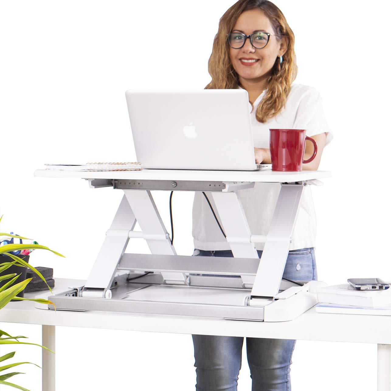 Totalpack Standingデスク – x-elite Pro高さ調節可能デスクコンバータ – サイズ26.5 in X 22.2でデスクに瞬時に変換A Sit/スタンドUpデスク(ブラック) ホワイト WS10450  ホワイト B07MWG5C5H