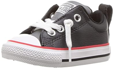 Converse Boys  Chuck Taylor All Star Street Slip On Leather Low Top Sneaker  Dark Charcoal 334295ac4