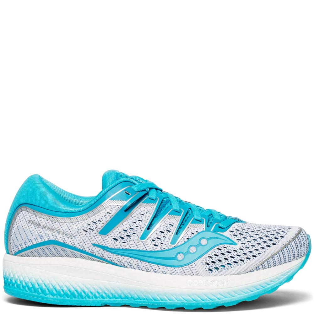 White   bluee Saucony Women's Triumph ISO 4 Running shoes