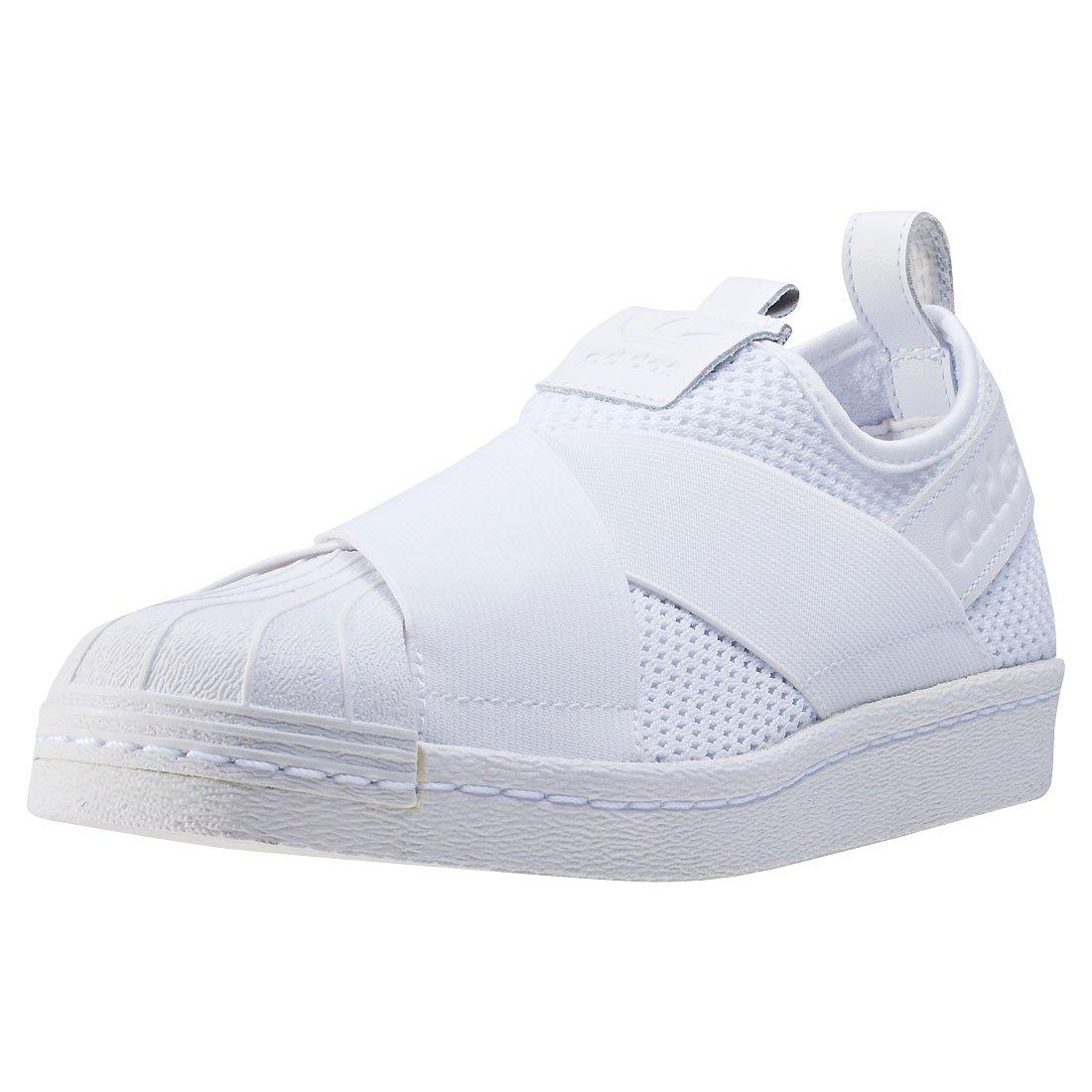 adidas Damen Superstar Slipon W Fitnessschuhe, Schwarz  42 2/3 EU|Wei? (Ftwbla/Ftwbla/Negbas)