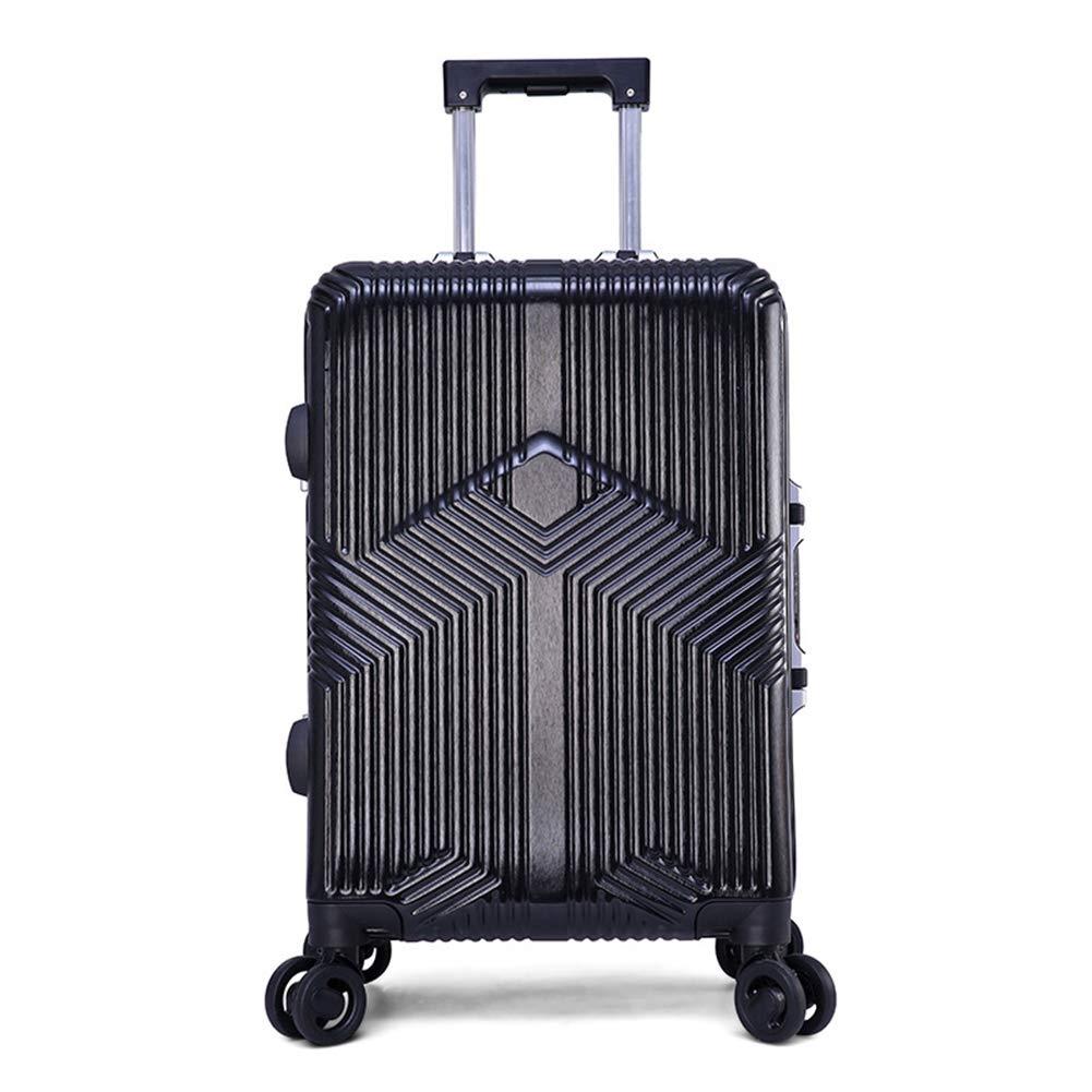 軽量スーツケース、360°ユニバーサルホイール、PCアルミフレーム荷物トロリーケース、搭乗、ユニセックスTSAロックボックス B07SWTFTPF black X-Large