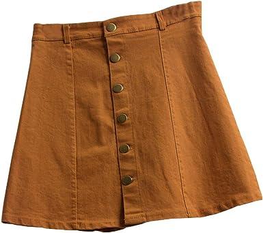 Theshy Falda de Cintura la Moda Las Mujeres Estilo Coreano niñas ...