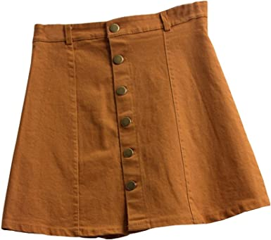 PARVAL Moda para Mujeres Cintura Mini Falda Estilo Coreano Niñas ...