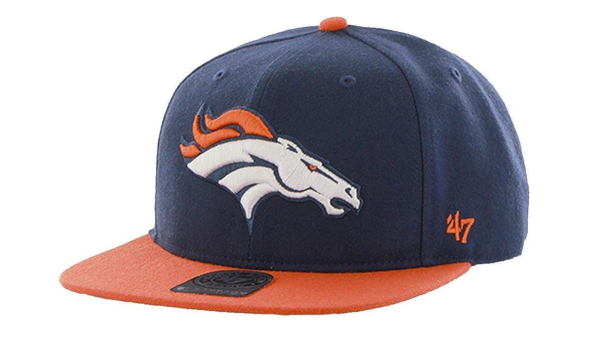 47 Brand Denver Broncos Two-Toned Super Shot Mens Snapback Hat F-SUSTT10WBS-LN Lite Navy LN M US
