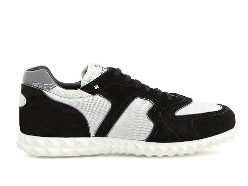 VALENTINO GARAVANI NY0S0A40TDGA01 Hombre Blanco/Negro Gamuza Zapatillas: Amazon.es: Zapatos y complementos