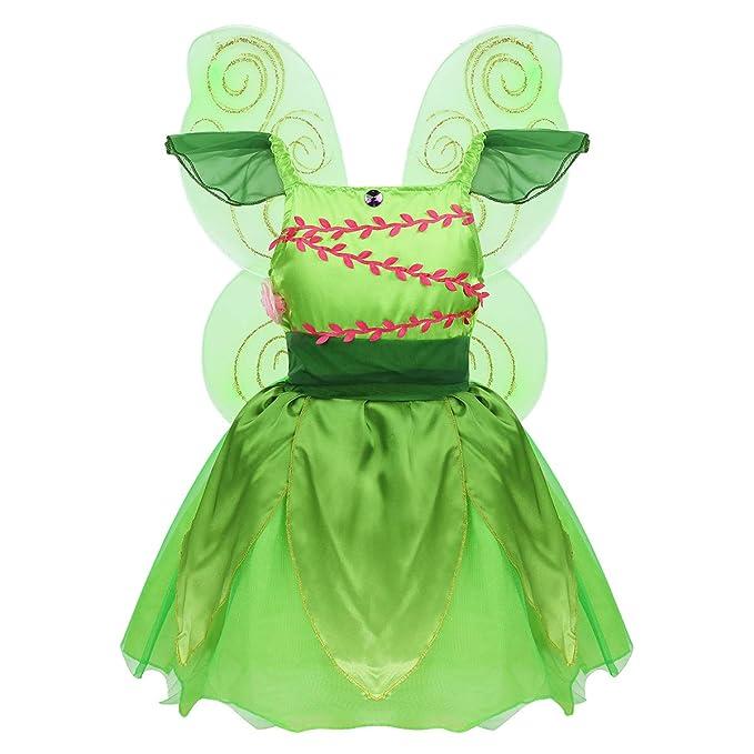 Agoky Disfraz de Hada Campanilla para Niña Cosplay Elfo ...
