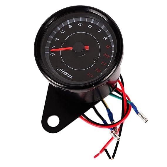 MagiDeal Backlight LED Night Light Tachometer Tacho Gauge Speedometer 12V Motorcycle