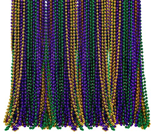 Bulk Pack of 72 Mardi Gras Colorful Beads