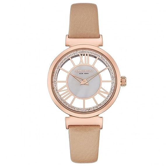 Kenneth Cole Reloj Analógico para Mujer de Cuarzo con Correa en Cuero KC50189003: Amazon.es: Relojes