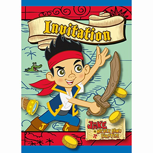 Jake and the Never Land Pirates Party Invitations [8 Per -