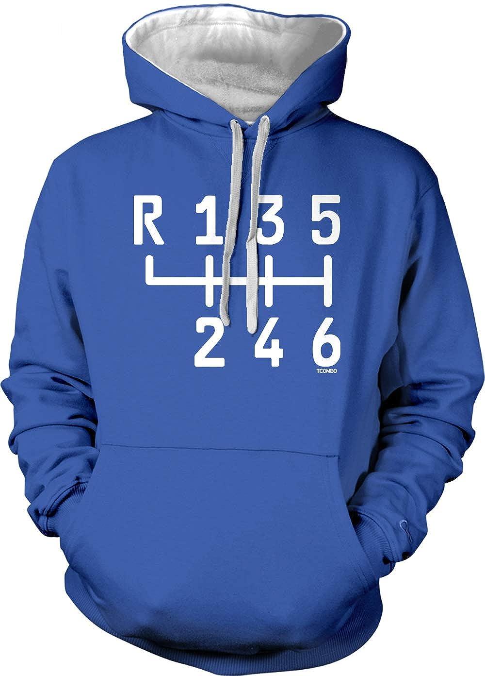 Royal Blue//White Strings, XX-Large Gear Stick Adult Two Tone Hoodie Sweatshirt