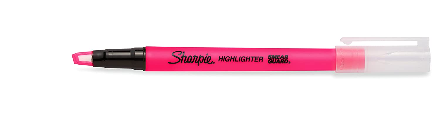 Sharpie Clear View Highlighter Stick, Yellow (1950755) Newell Rubbermaid Office