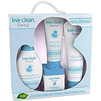 Live Clean Baby Gentle Moisture Baby Essentials Gift Set, 4 Count