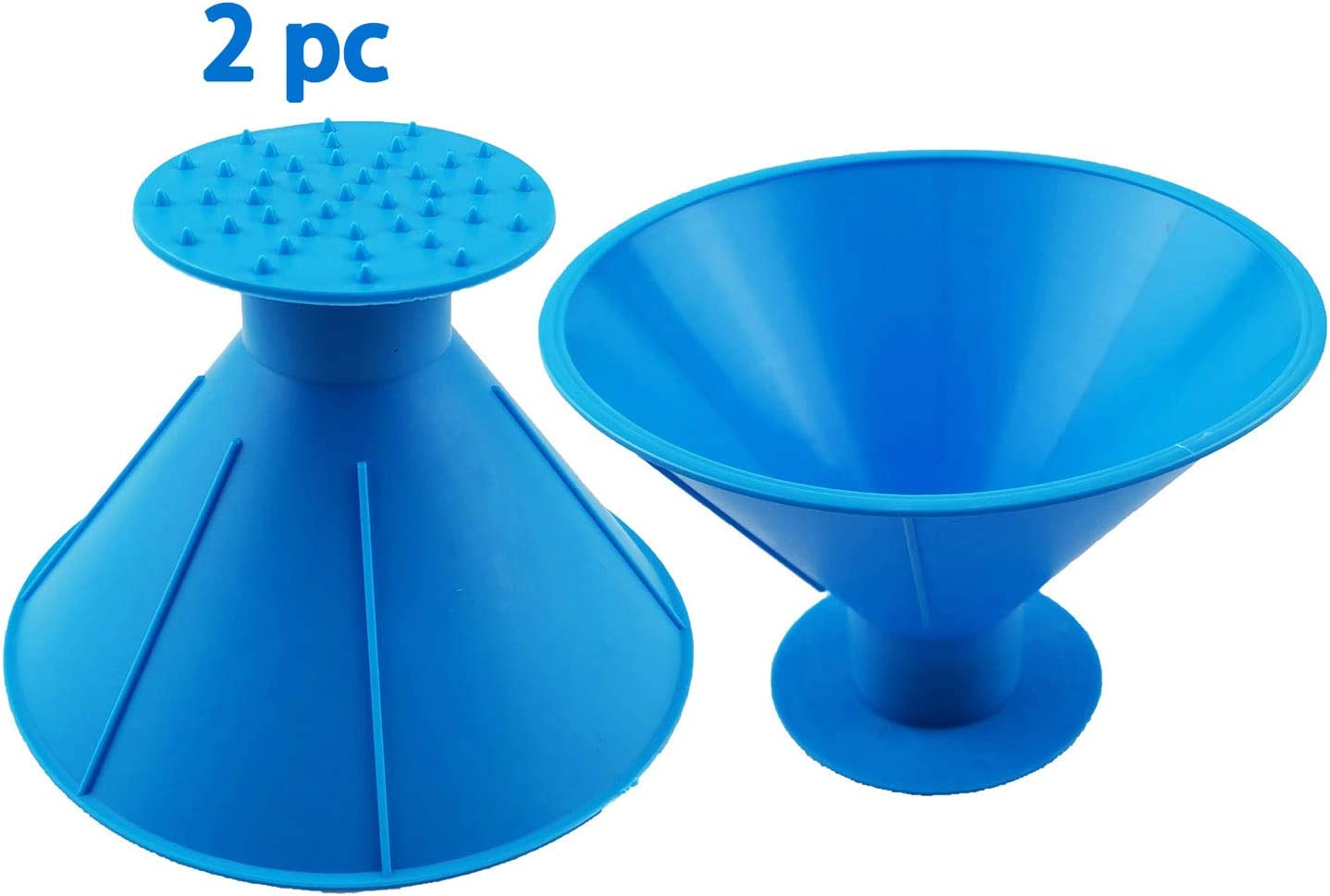 CTHAP 2 Pack Round Windshield Ice Scraper, Magic Snow Removal Tool Cone Shaped Frost Removal Funnel Shaped Round Windshield Ice Scraper Car Window Glass Cleaning Tool as Gift (Blue)