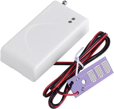 Suono Pi/ù Forte Rilevatore di perdite dacqua Distanza Sensore Rilevamento Allarme Pi/ù Lunga Akozon Sensore Acqua e Allarme 120 DB
