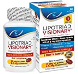 Lipotriad Visionary 1-Per-Day AREDS 2 Based Eye Vitamin and Mineral Supplement - Includes all 6 key ingredients in the AREDS 2 Study - 2 Mo Supply, Dye Free, Safe for smokers- 60 Softgels- 2 pack