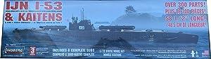 Lindberg IJN I-53 Submarine with Kaiten Torpedoes 1:72 Scale Plastic Model Kit