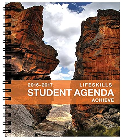 Action Publishing Academic Agenda August 2016 - July 2017 Achieve Life Skills Student Planner, 7x8.5 - Double Owire Bindings